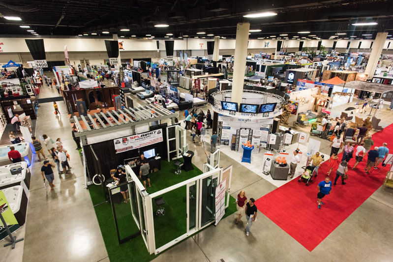 The floor of the Fort Lauderdale Home Design and Remodeling Show