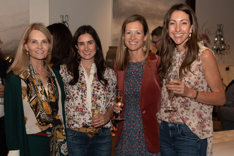 Guests including Charlotte Lucas (far right) enjoyed custom cocktails and a preview of Alfonso Marina's new collection.