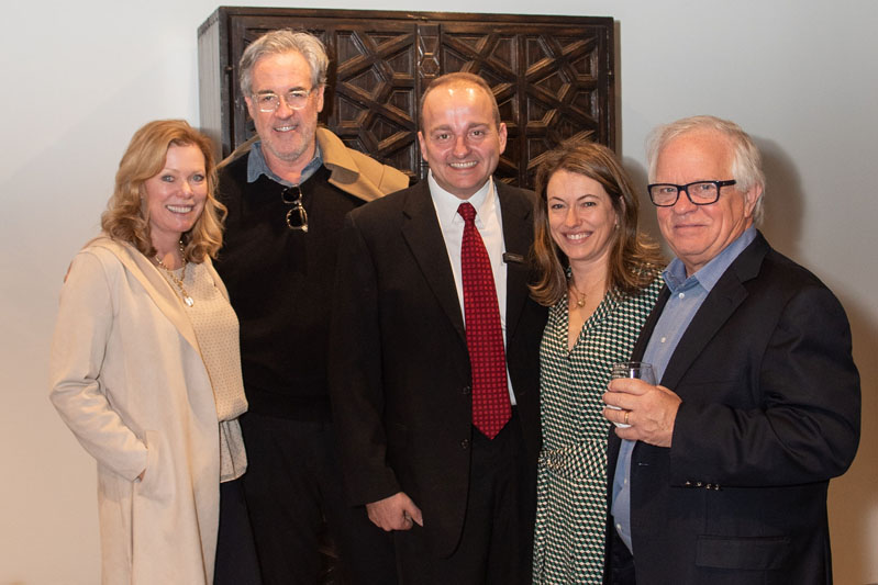 Interior designer Phoebe Howard (far left) joined Veranda editor in chief Steele Marcoux (second from right) to celebrate the showroom's opening.