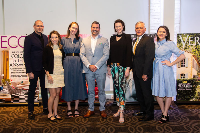 Hearst's newly formed Luxury & Design Collection Team: Bill Pittel, Steele Marcoux, Dayle Wood, Jon Walker, Jennifer Levene Bruno, Jim Blazevich and Lauren Corbin.