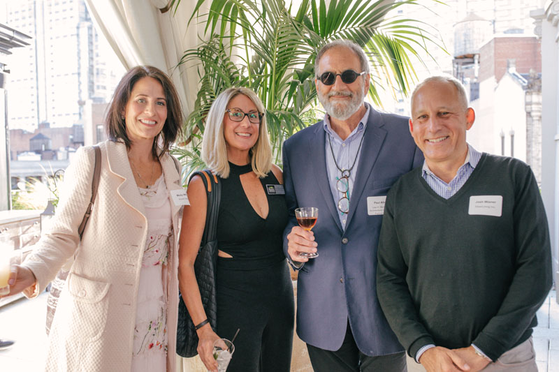 Molly Miller and Traci Shemonoski of Royal Green Appliances, with Paul Alter of Lee H. Skolnick Architecture + Design Partnership and Josh Wiener of SilverLining