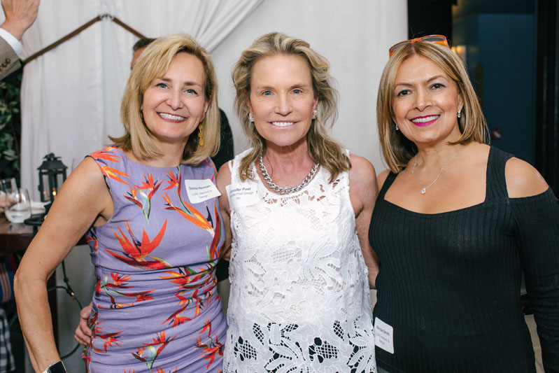 Designer Jennifer Post (center) with Donna Herman and Maritza Smith of Luxe Interiors + Design