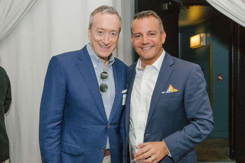 Architect Edward Siegel with Stan Ponte of Sotheby's