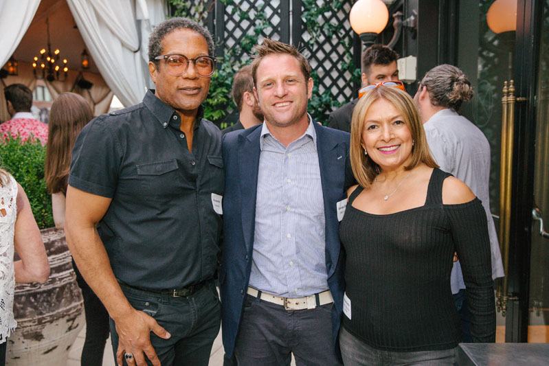 Rio Hamilton, George Oliphant of NBC's 'George to the Rescue' and Martiza Smith of Luxe Interiors & Design
