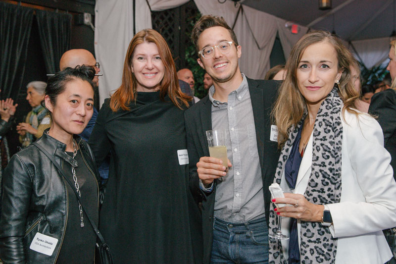 Ryoko Oda (far left) and Heidi Theunissen of ODA Architecture, with Parker Thompson of AM/MOR Architecture