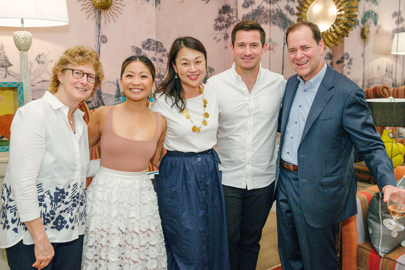 Lisa Kravet, Peti Lau, Young Huh, Nick Olsen and Cary Kravet