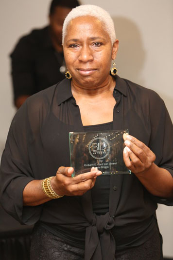 Katrena Griggs, recipient of the Kimberly E. Ward 2019 Design Icon Award