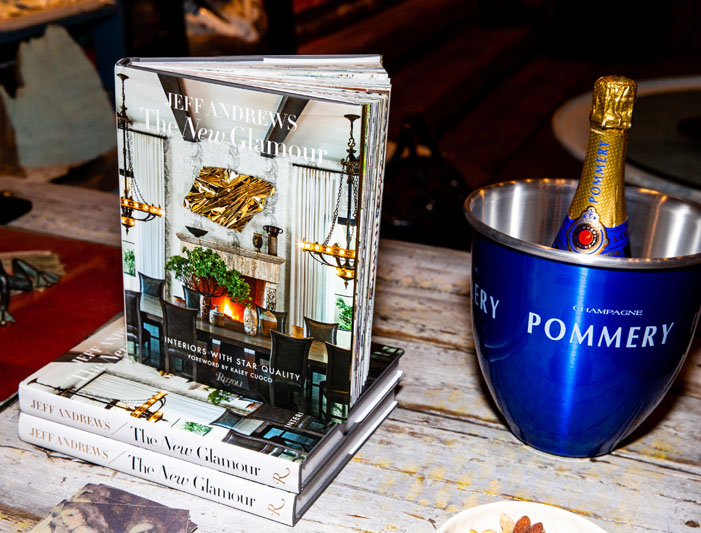'The New Glamour: Interiors With Star Quality' and Pommery Champagne bucket