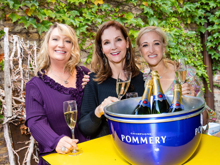 Penny Newberry, Marene Babula of Pommery, and Janelle Gordon