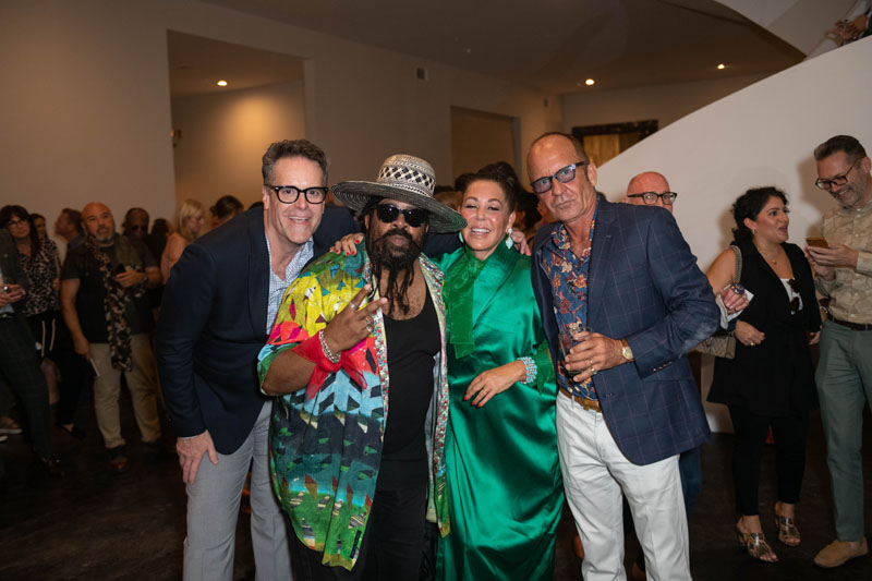 Sir Earl Toon from Kool and the Gang (center left), Michelle Nussbaumer and Bernard Nussbaumer
