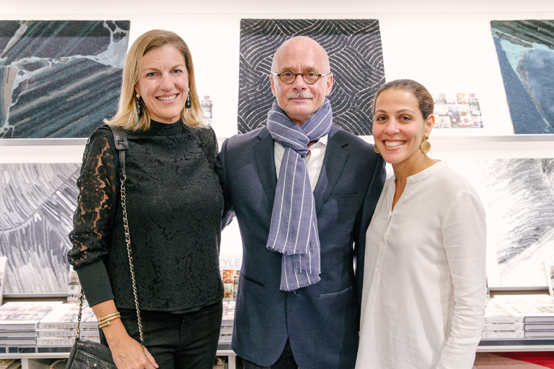 Two of the four partners at the storied New York firm of Cullman & Kravis, Sarah Ramsey and Alyssa Urban, who are featured in the book (alongside their associates Lee Cavanaugh and Claire Ratliff), pose with Carl Dellatore.