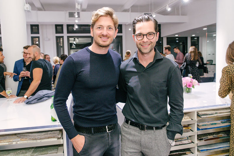 Bennett Leifer, featured in 'On Style,' and the president of Schumacher, Benni Frowein.