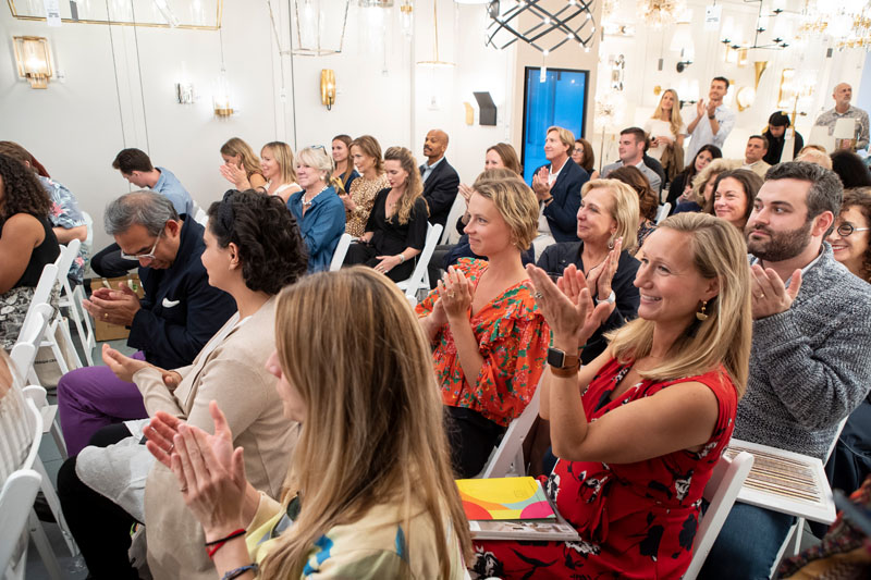 Over 200 guests attended the panel in the Circa Lighting showroom.