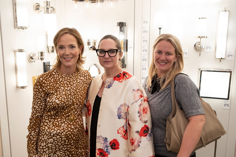 Elizabeth Pash (left) and guests celebrate What's New What's Next at the New York Design Center.