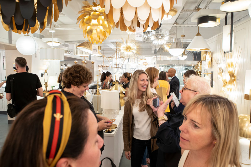 Over 200 guests gathered in the Circa Lighting showroom during What's New What's Next.