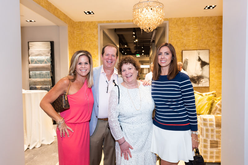 Kravet's Michelle Snyder, Scott Kravet and Ellen Kravet, with Gina Thomas of Lindy Thomas Interiors