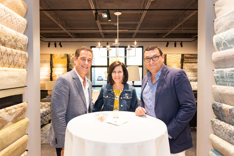 Emilio and Linda Sadez of International Design Source, and Frank Cauce, regional VP of Kravet