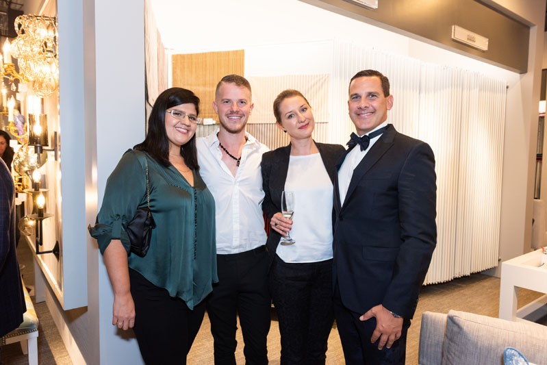 The team from Fava Design Group: Camilla Semas, Michael Coats, Olga Zhuravleva and Joe Fava