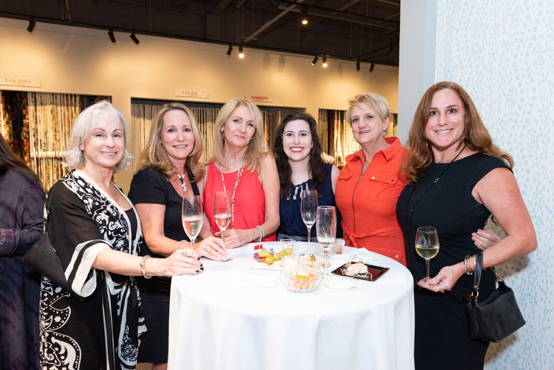 Geri Visconti of Visconti Design; Patty Mowry of Patty Mowry Interior Design; Cindy Lotz, Jordan Sullivan and Kathy Roman of The Decorators Unlimited; and