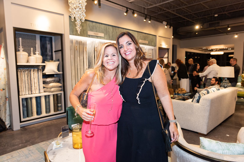 Kravet sales representative Michelle Snyder and Sarah Zohar of Sarah Z Design