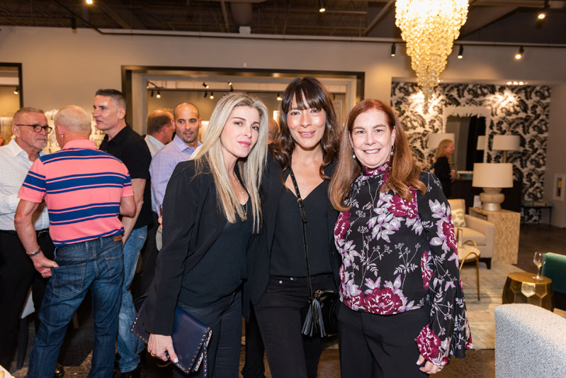 Monica Giraldo and Ximena Astralaga of MGM Designs, with Kravet sales representative Joan Cauce