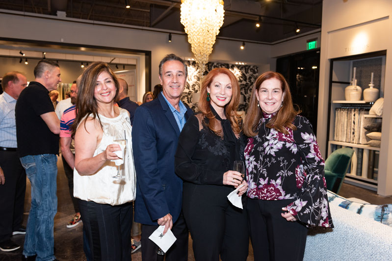 Jazmin Ruiz, Humberto Barceló and Carina Barceló of Fabrics and Walls, with Kravet sales representative