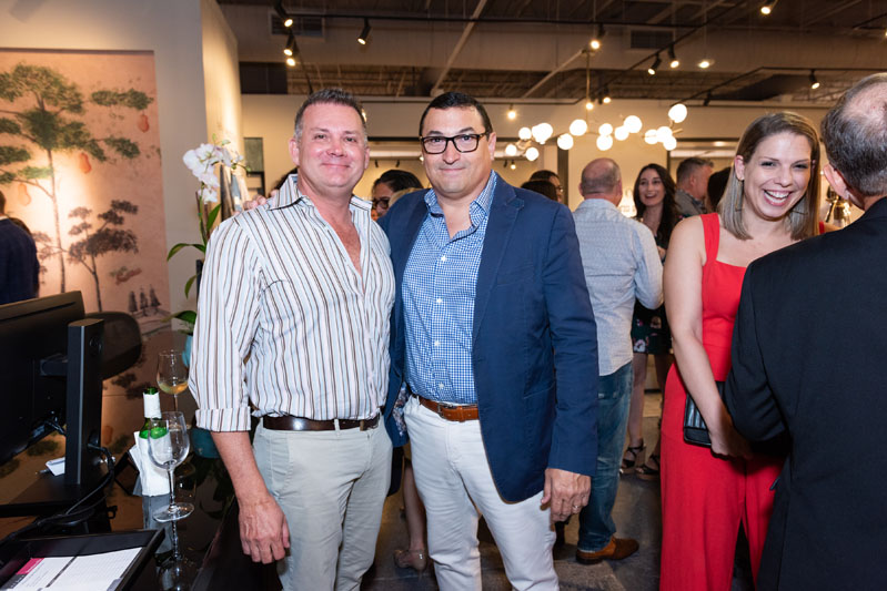 Mark Tremblay, president of Marc-Michaels Interior Design, with Kravet regional VP Frank Cauce