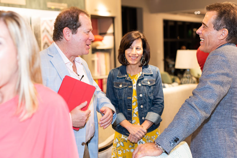 Scott Kravet with Linda and Emilio Sandez of International Design Source