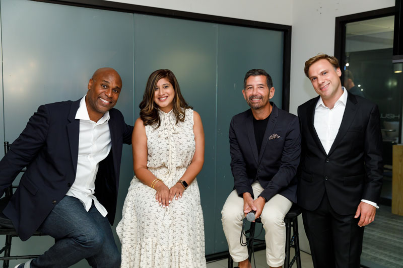 Everick Brown, Tina Ramchandani, Philip Gorrivan and Nick Baylis