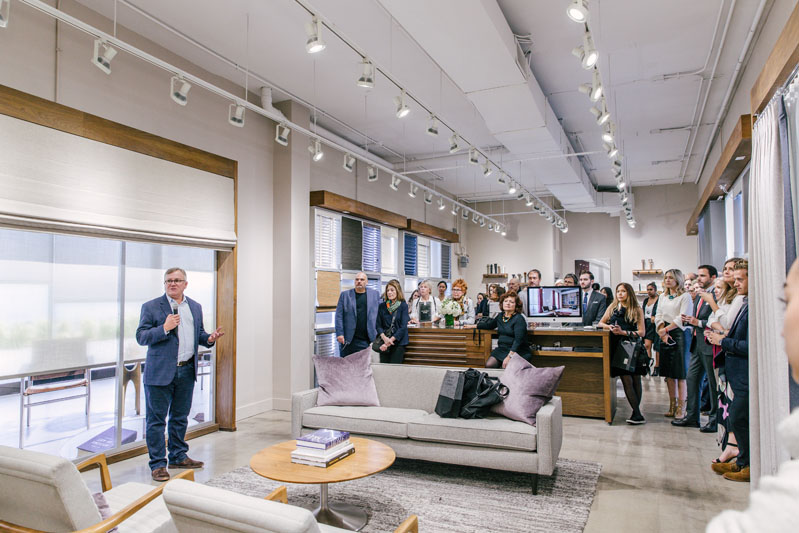 The Shade Store hosted the reception in its midtown showroom.