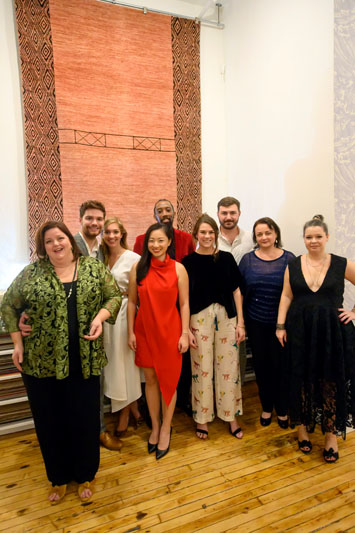 The Studio Four NYC team: Stacy Waggoner, David Estes, Anne Roane Hennessy, Debbie Li, Demetrius Lionel, Bess Broadwater, Henry Reed, Amy Abreu and Caroline Butler