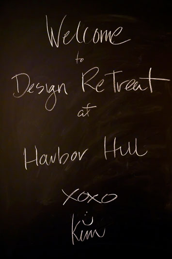The Design Retreat was hosted at Harbor Hill, the Huntington Bay home of Kim Radovich.