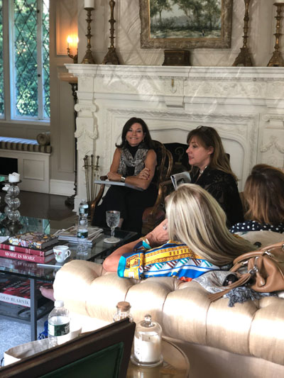 On Saturday, Holiday House founder Iris Dankner (left) led a discussion about the benefits and nuances of participating in a showhouse.
