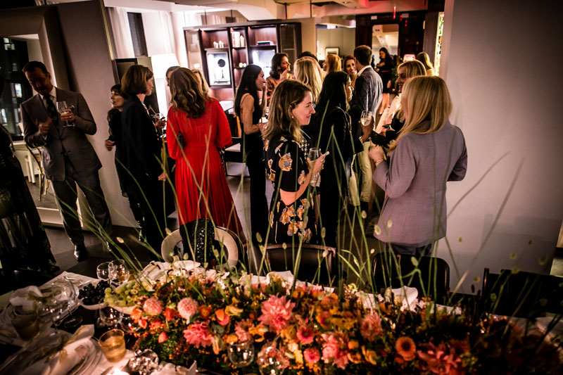 Twenty-four guests gathered in the Promemoria showroom.