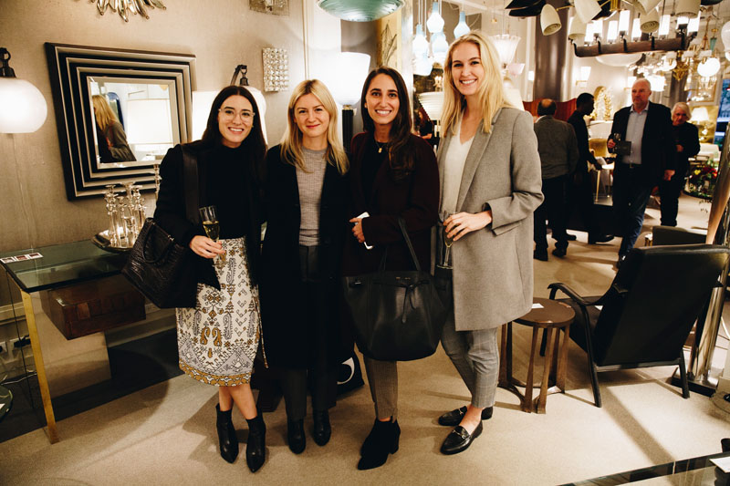 Alyssa Kapito (second from left) and the team from Alyssa Kapito Interiors