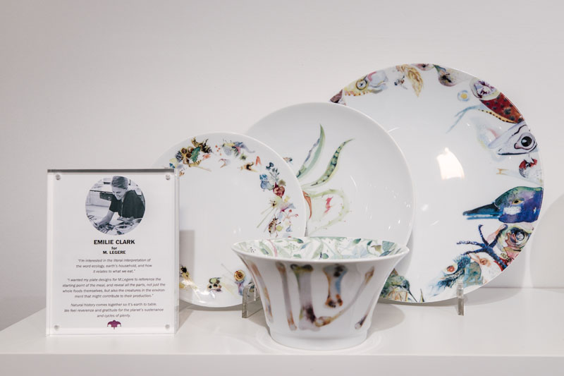 New Mark Legere dinnerware at Daum-Haviland