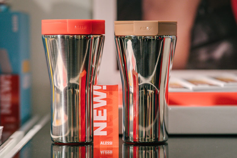 The Caffa travel mugs by Alessi