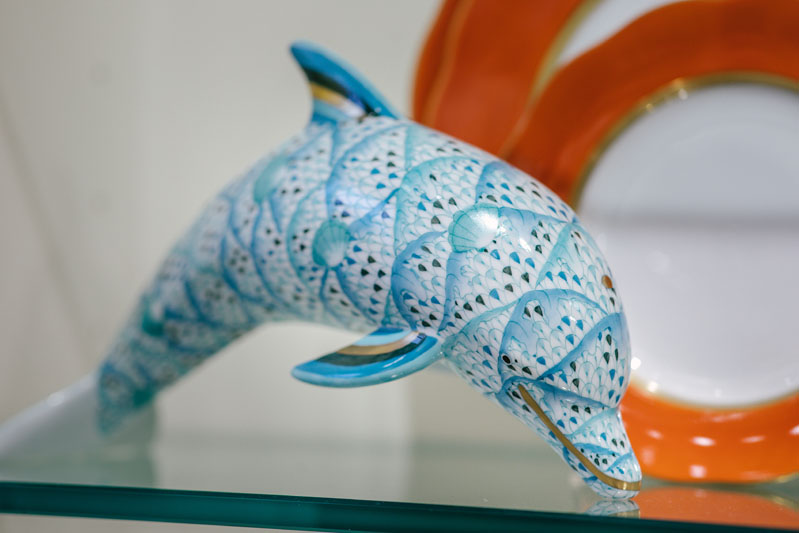 Herend's new limited-edition dolphin figurine