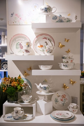 Lenox's new Butterfly Meadow 20th Anniversary Gold Butterfly collection