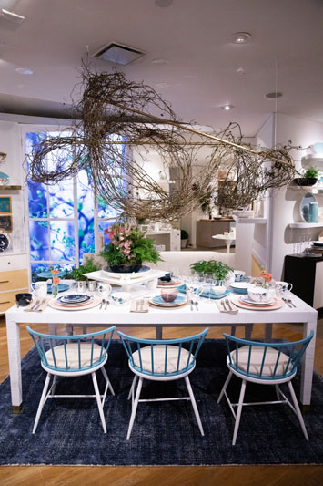 The new Sprig and Vine collection on display in the Lenox showroom