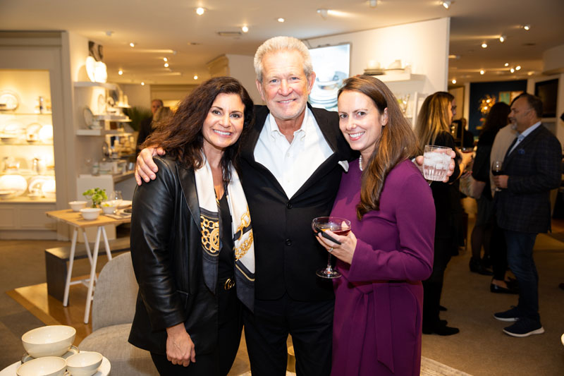 Dick Kunkle of Lenox with  Stacy Bowe (left) and Tina Greco of Macy's
