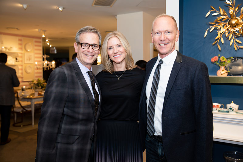 Kristi Forbes with Barry Goralnick and Keith Gordon of Barry Goralnick Architecture and Design