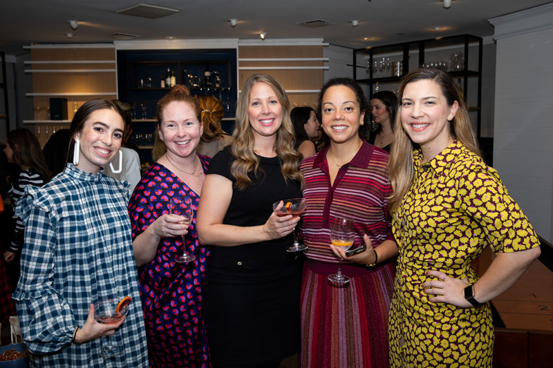 Stephanie Zoppina, Geri-Anne Noe and Laura Jaussi, with Kate Spade's Jackee de Legarde and Mary Sell