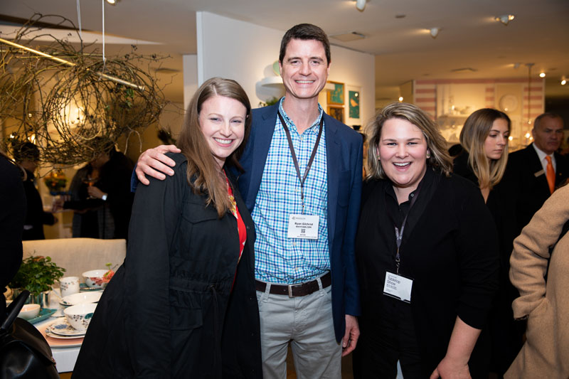 Suzanne Hoffman from Lenox with Ryan Gilchrist and Chrissie Puchta from Wayfair