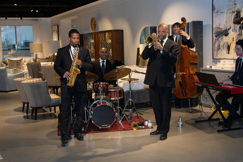 Guests enjoyed music from City Jazz Co.
