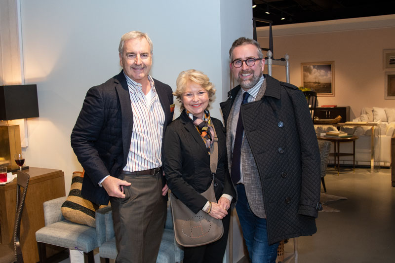 Clint Smith (left) welcomed guests to the Century showroom.