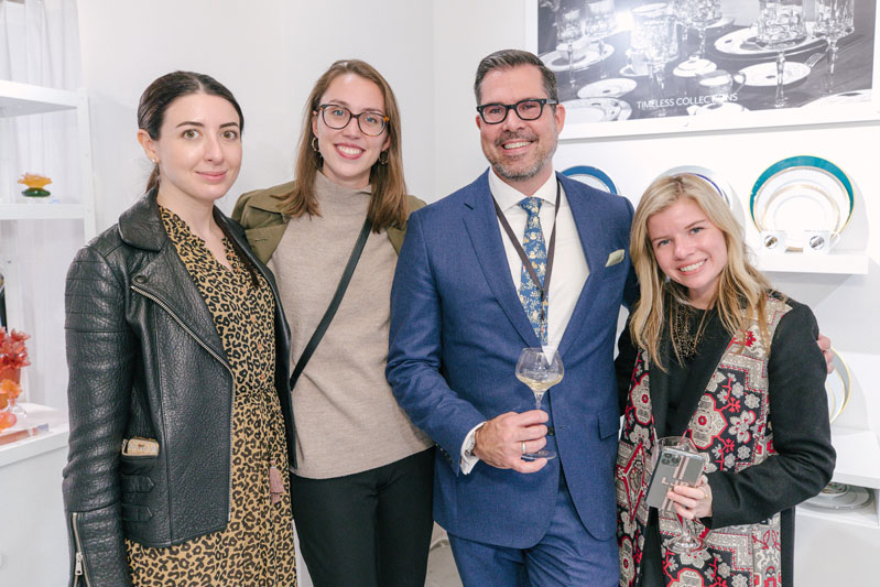 The Hearst design team celebrated Daum-Haviland's new showroom.