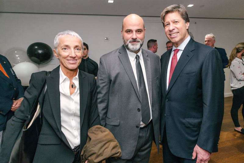 Seguso's Simonetta Garzino and Pierpaolo Seguso, with Eric Rudin, president and co-chairman of Rudin Management