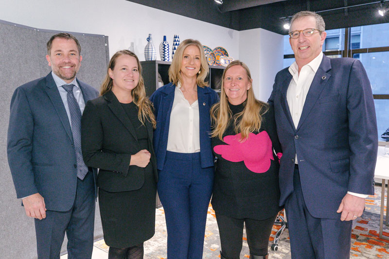 Eleven75 Home vice president of sales John Dressler and general manager Corrie Murphy; Forty One Madison director and senior vice president Kristi Forbes; Eleven75 Home chief business development officer Lisa Willey-Knierim; and Rudin Management CEO and co-chairman Bill Rudin