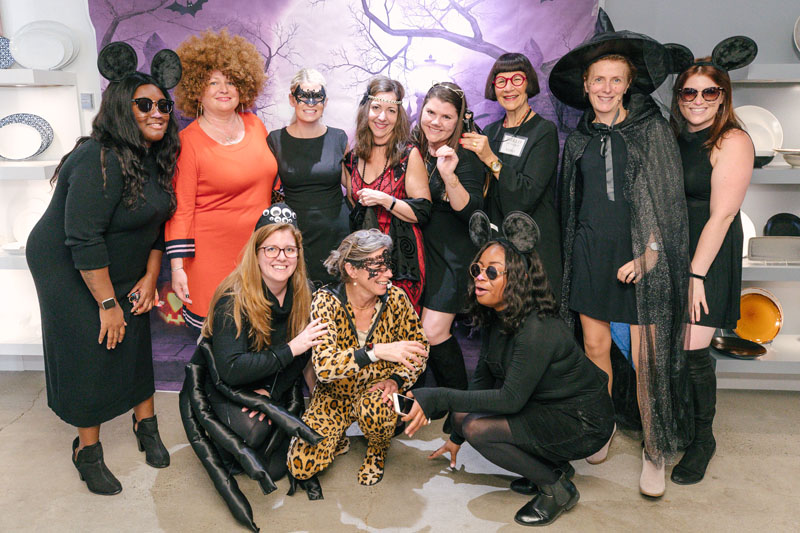 The Arc team celebrated Halloween in their showroom with a costume party.